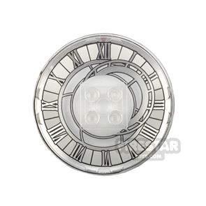 Printed Inverted Dish 6x6 Asymmetrical Clock Face