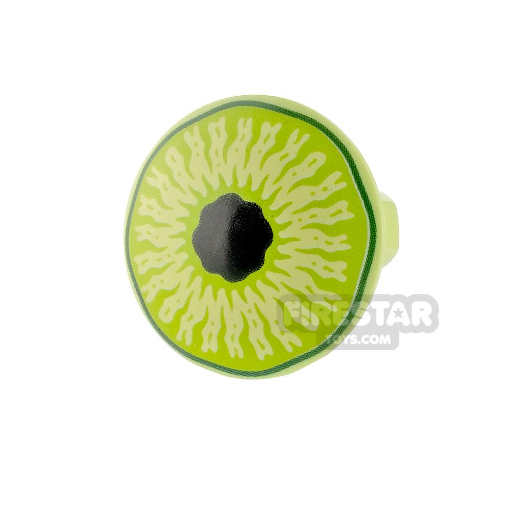 Printed Round Plate Stud 2x2 Eye