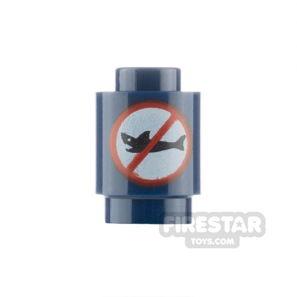 Printed Round Brick 1x1 Shark Repellent