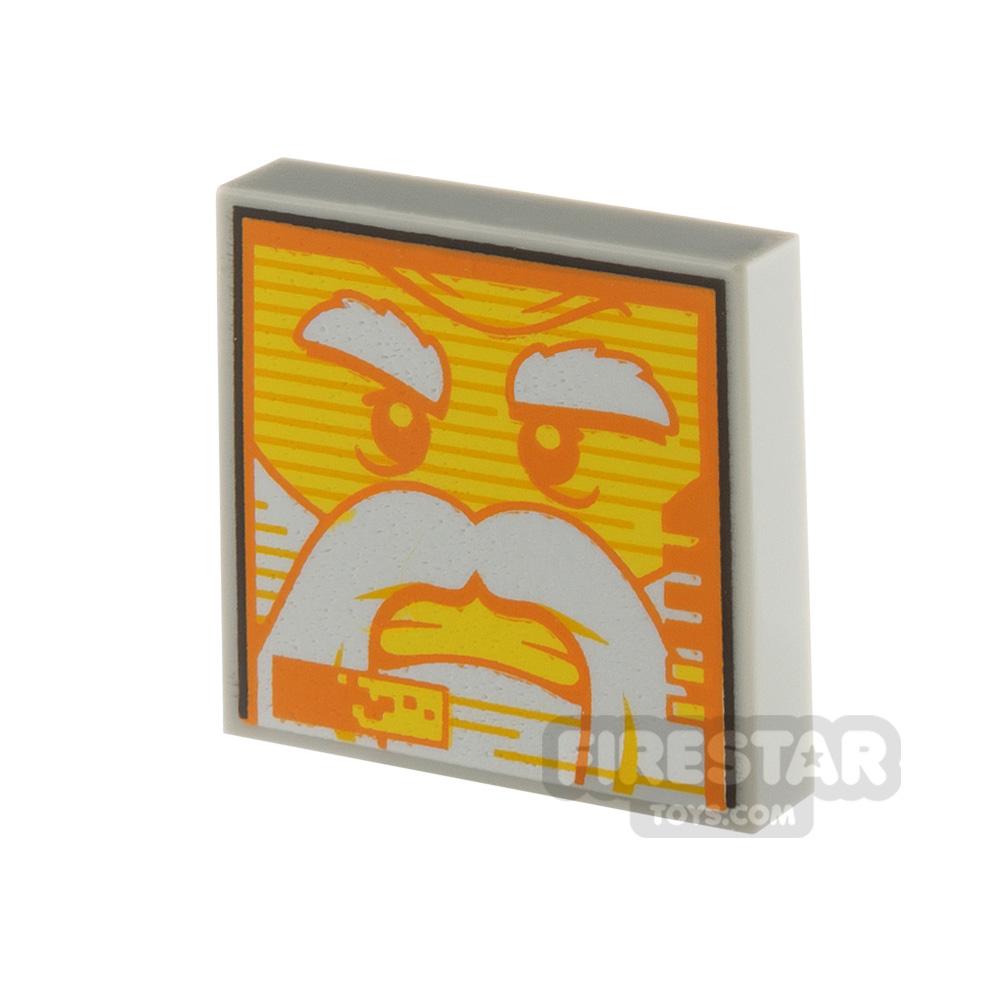 Printed Tile 2x2 Mechlok Face