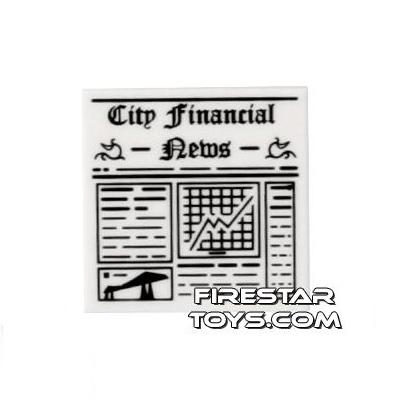 Printed Tile 2x2 - City Financial Newspaper