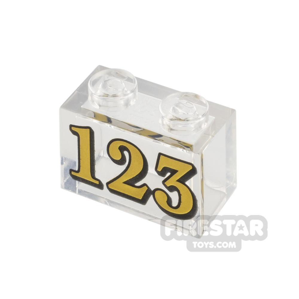 Printed Brick 1x2 Number 123