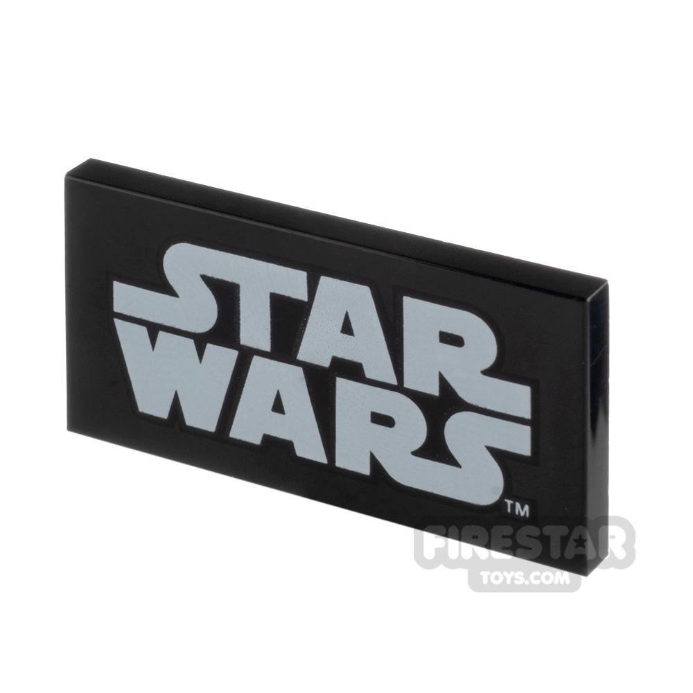 Printed Tile 2x4 Star Wars Logo