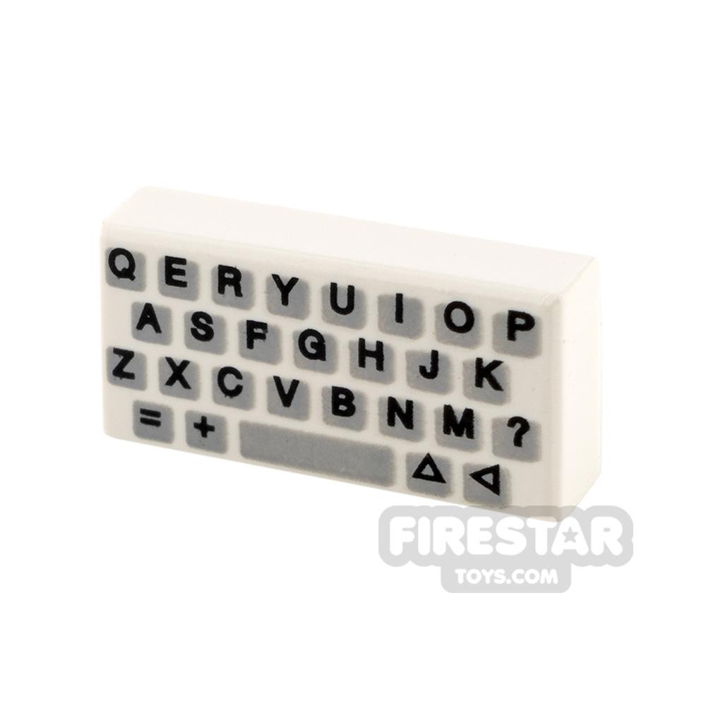 Printed Tile 1x2 - Keyboard