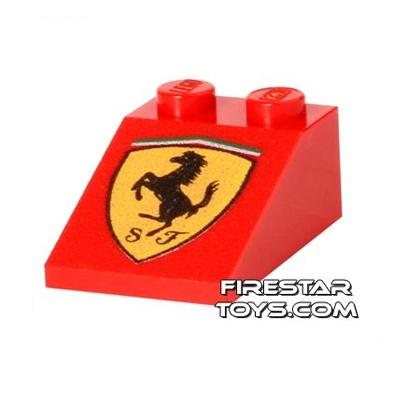 Printed Slope 2x3/25° - Ferrari Logo