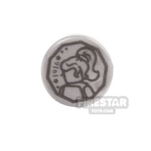 Printed Round Tile 1x1 - Two-Face Coin