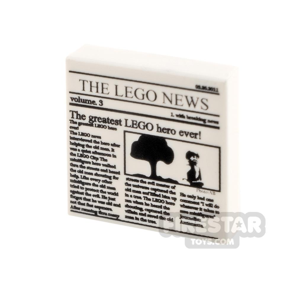 Printed Tile 2x2 - The LEGO News