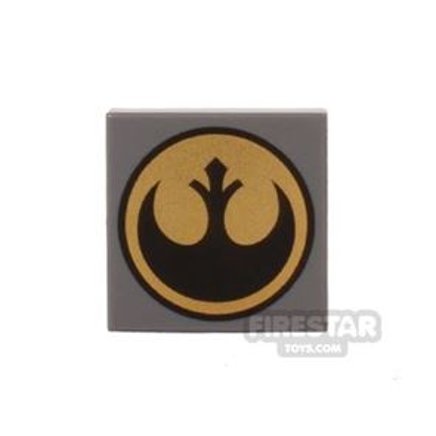 Printed Tile 2x2 - Star Wars Rebel Logo