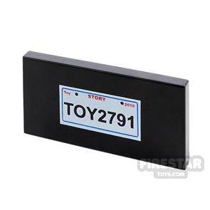 Printed Tile 2x4 Toy Story License Plate