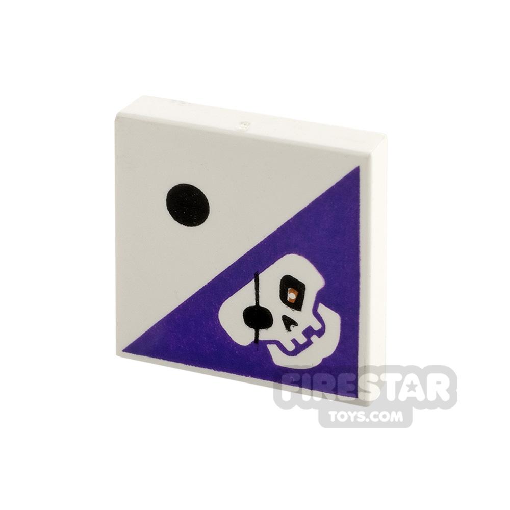 Printed Tile 2x2 - Dot and Skull