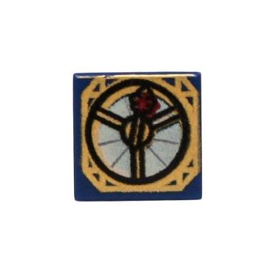 Printed Tile 1x1 Magic Compass