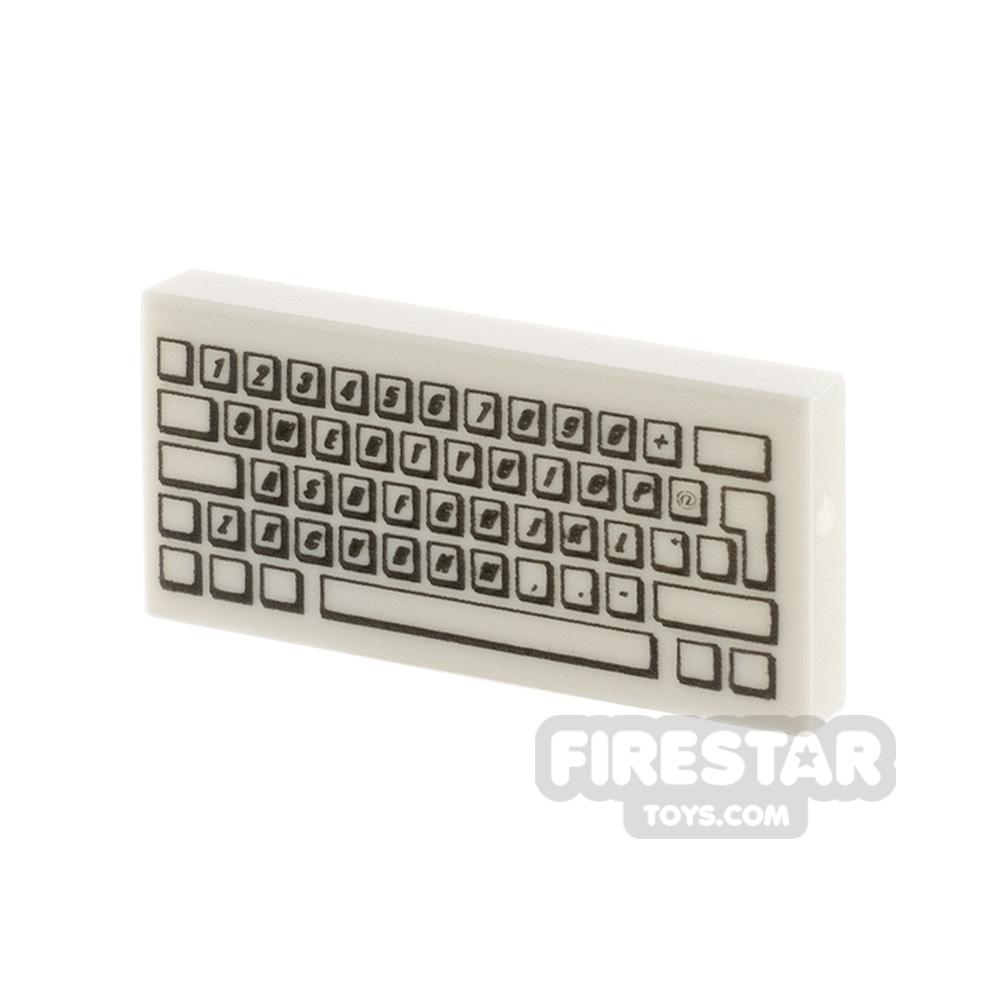 Printed Tile 1x2 Keyboard
