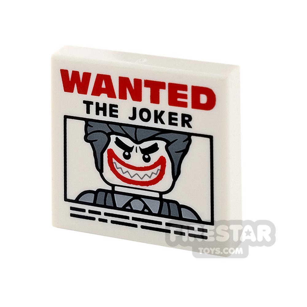 Printed Tile 2x2 - Joker Wanted Poster