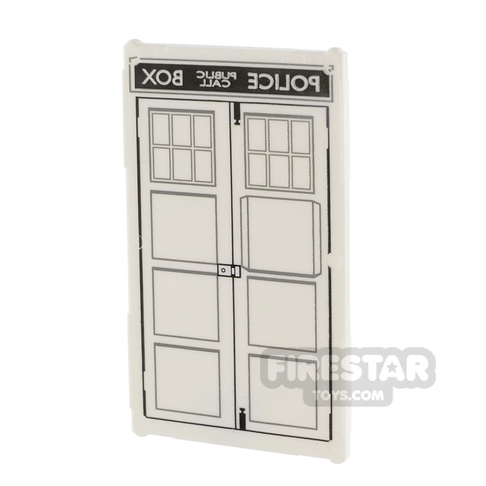 Printed Door 1x4x6 - Police Box