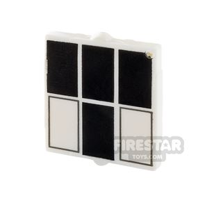Printed Window 1x2x2 - Black and White Rectangles