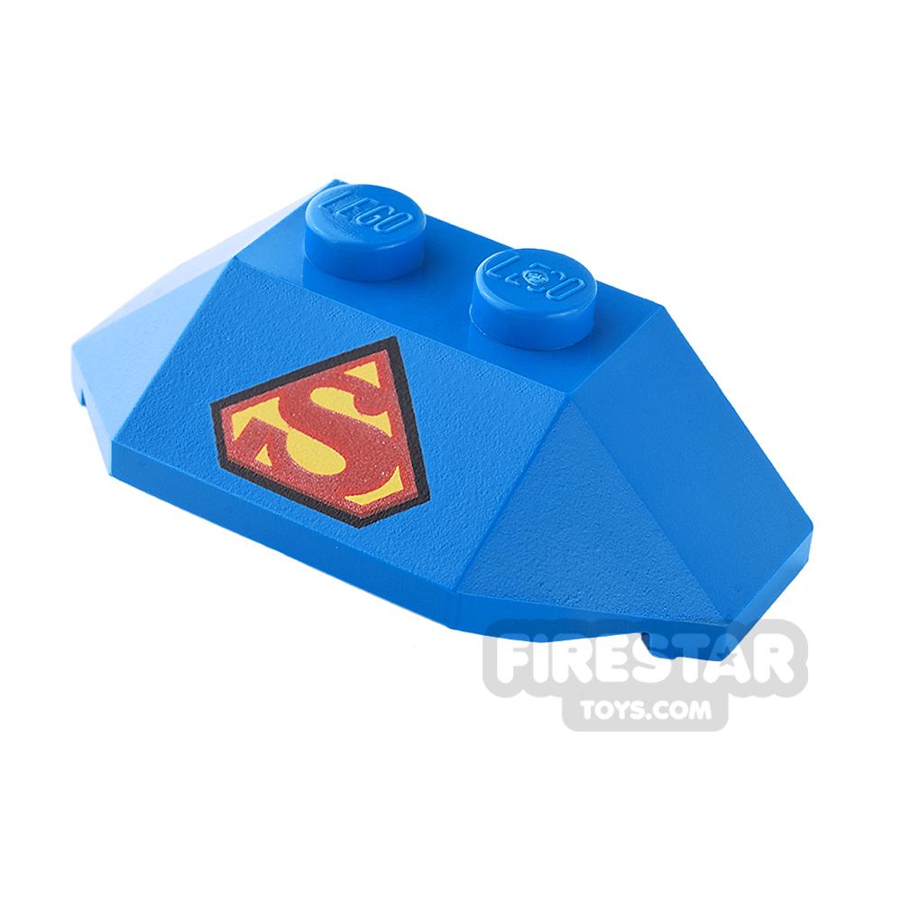 Printed Wedge 2 x 4 - Superman Logo - Blue