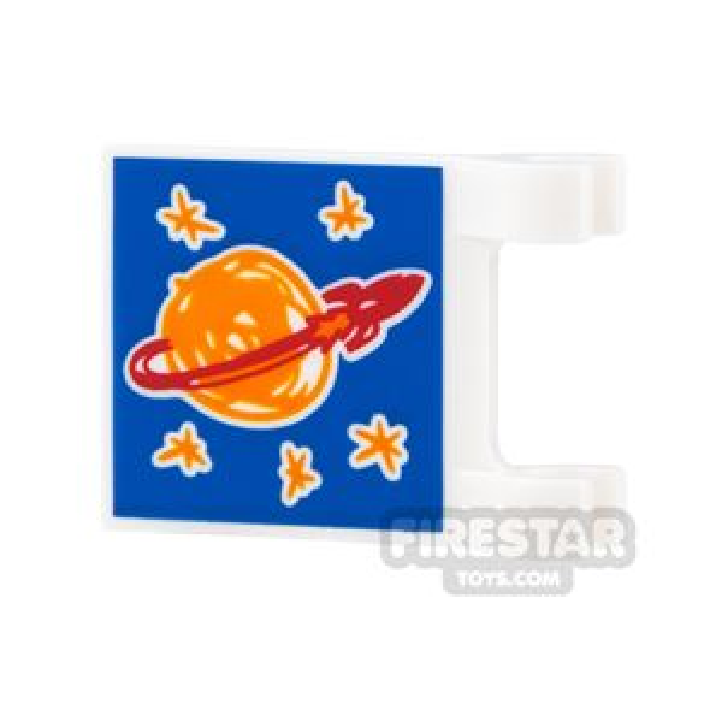 Printed Flag 2x2 - Classic Space Logo