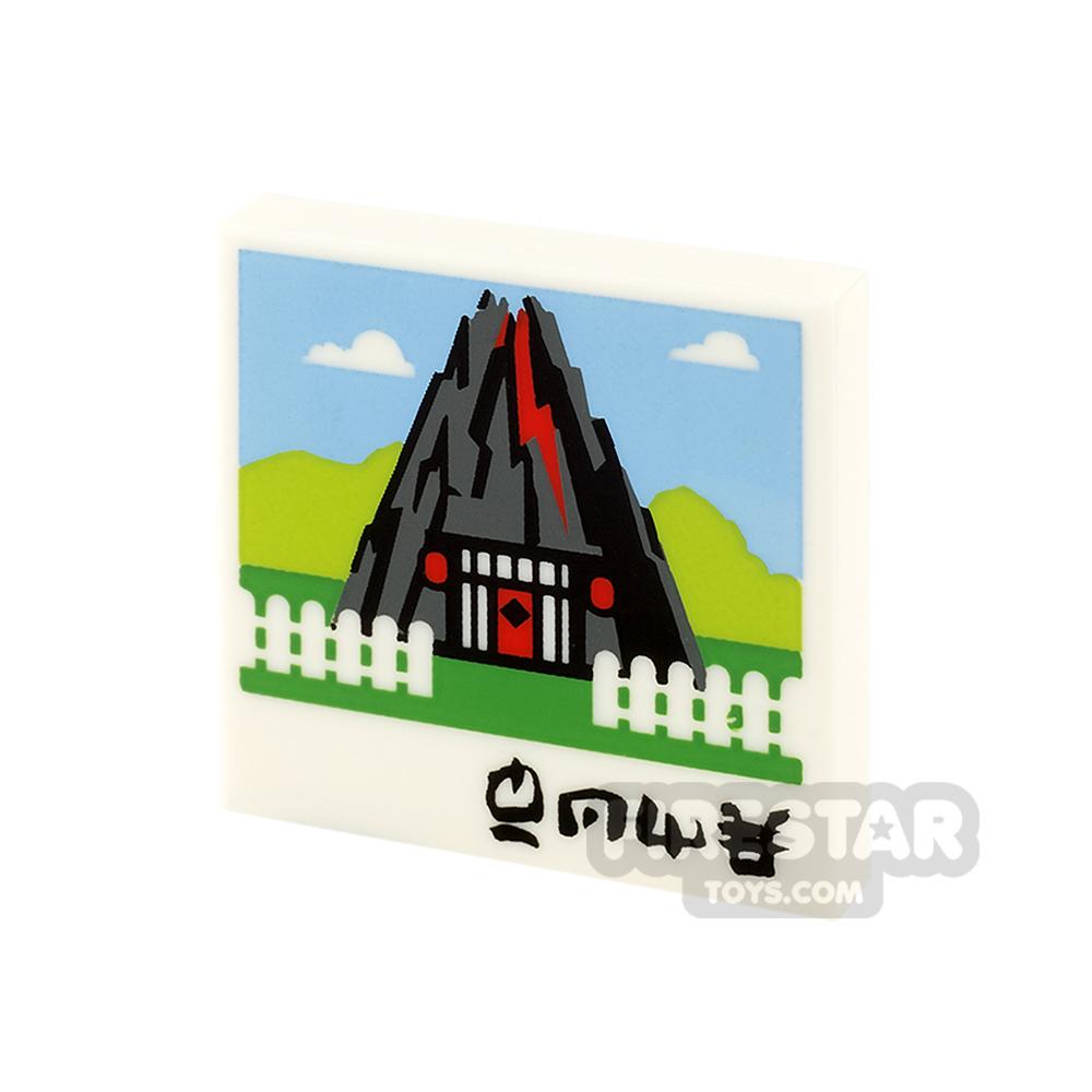 Printed Tile 2x2 - Volcano House