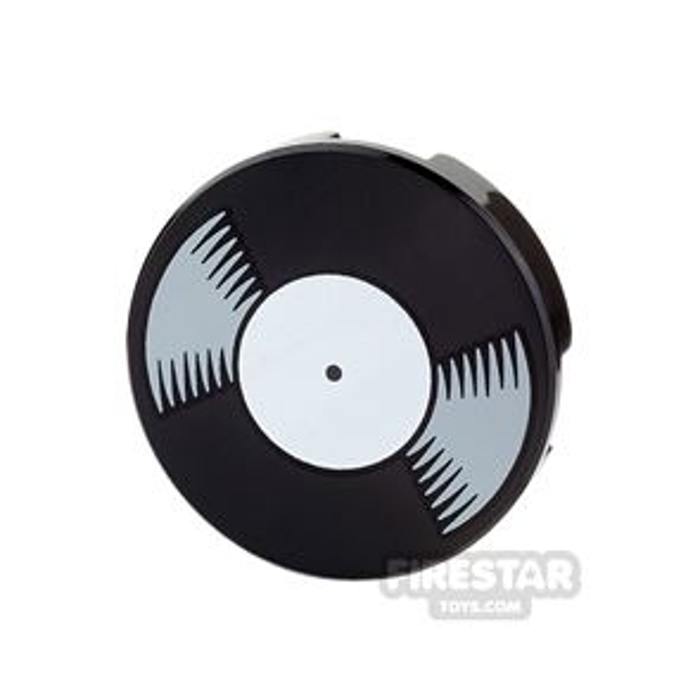 Printed Round Tile 2x2 - Vinyl Record