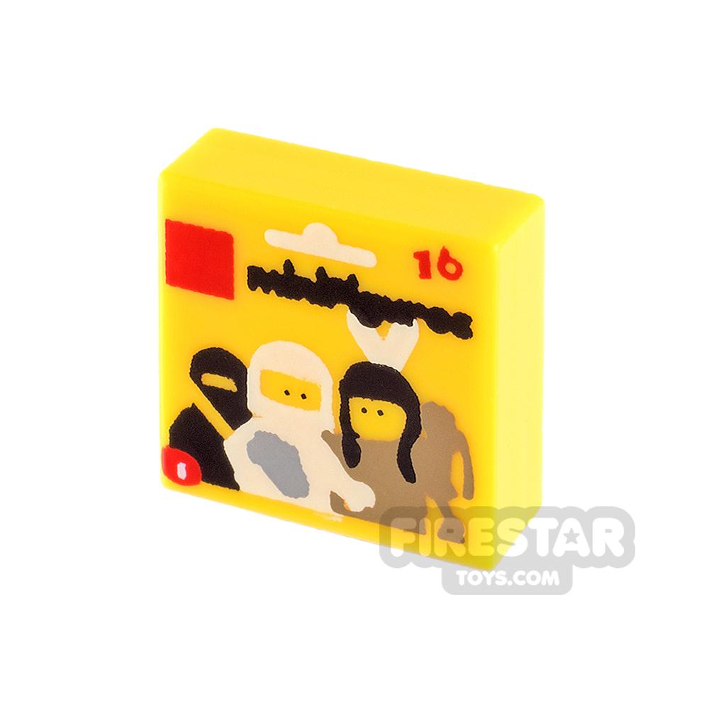 Printed Tile 1x1 - LEGO Series 1 Blind Bag