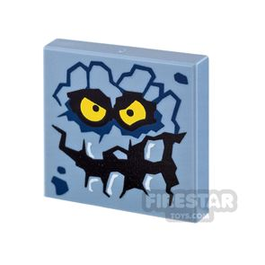 Printed Tile 2x2 - Stone Monster Face