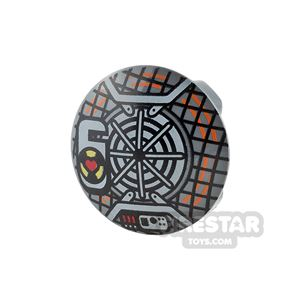 Printed Round Plate Stud 2x2 Proton Pack