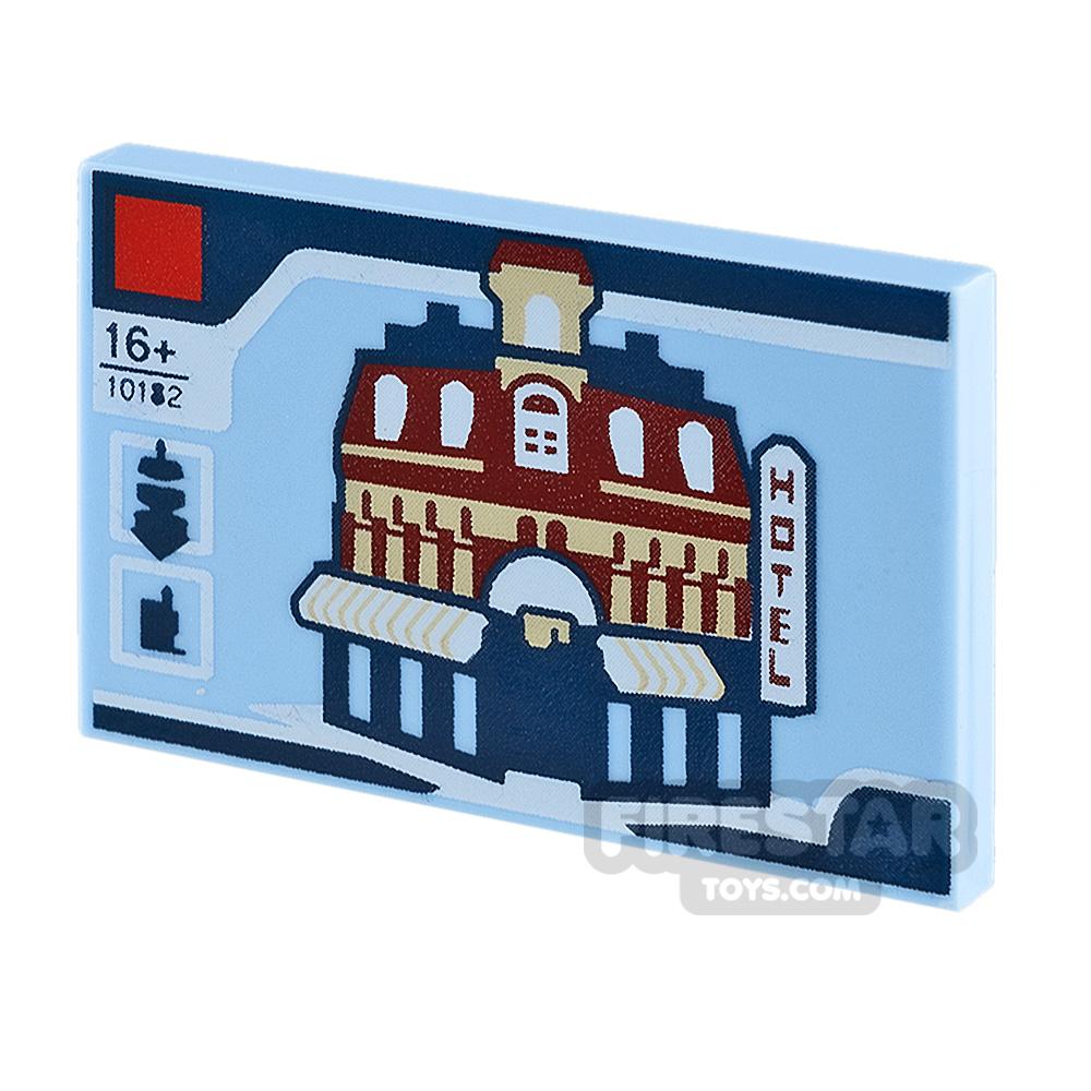 Printed Tile 2x3 Cafe Corner LEGO Set Box