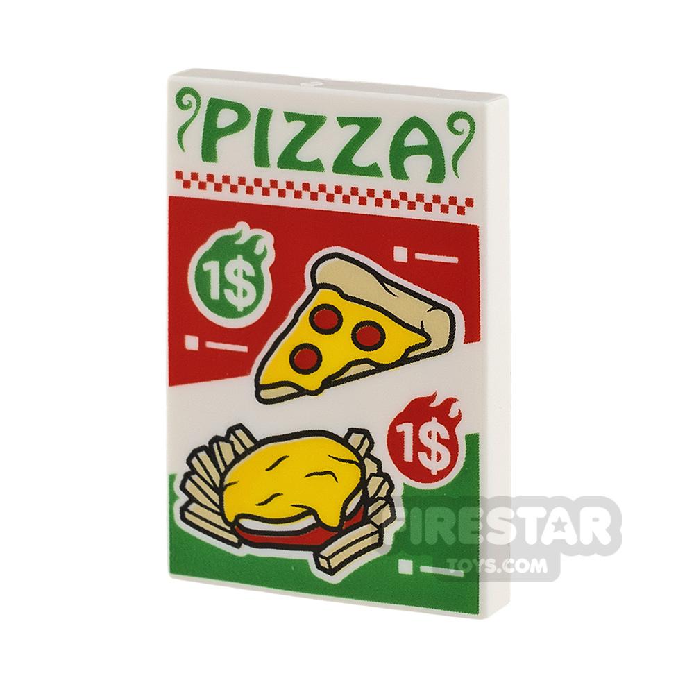 PrintedTile 2 x 3 Pizza Menu