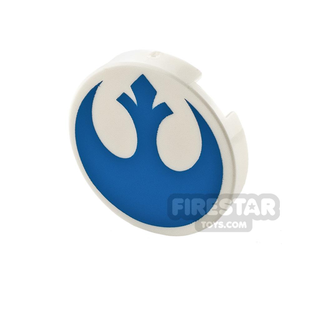 Printed Round Tile 2x2 Star Wars Rebel Logo