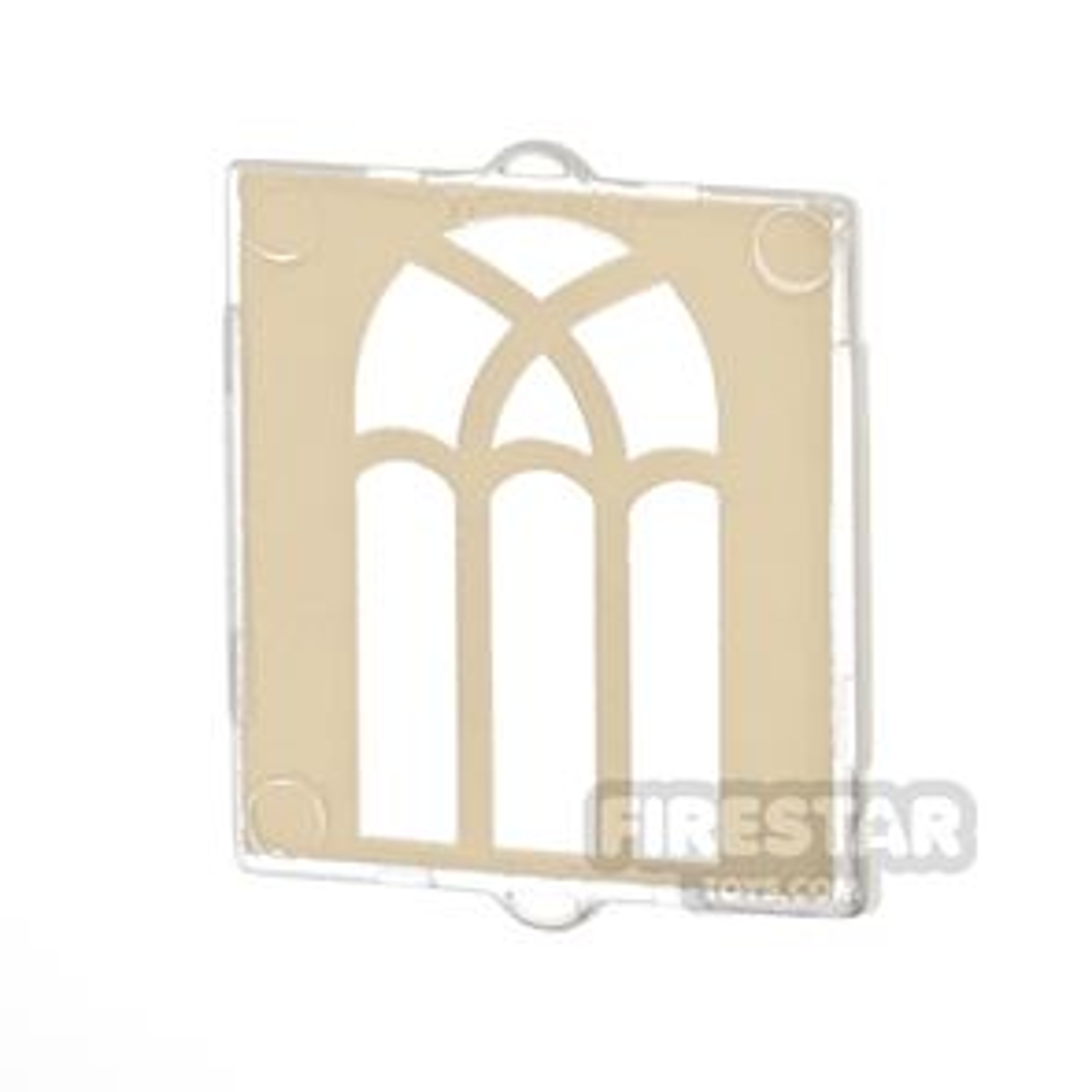 Printed Window 1x2x2 Arched Gold Window