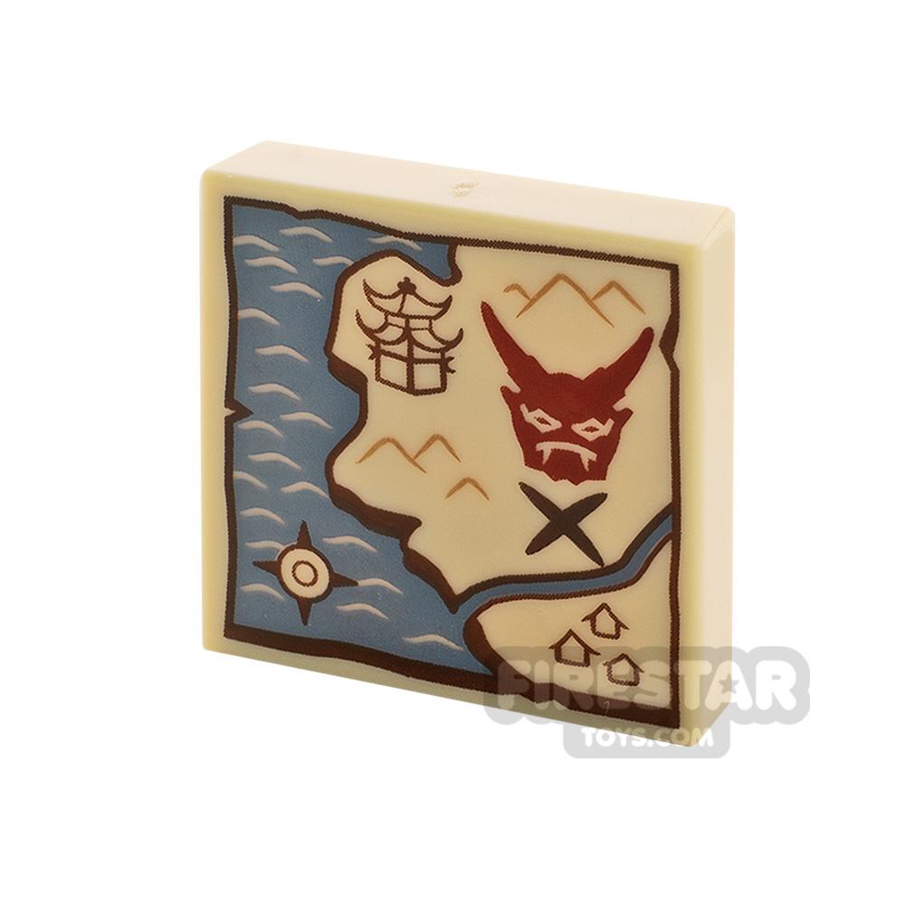 Printed Tile 2x2 Treasure Map
