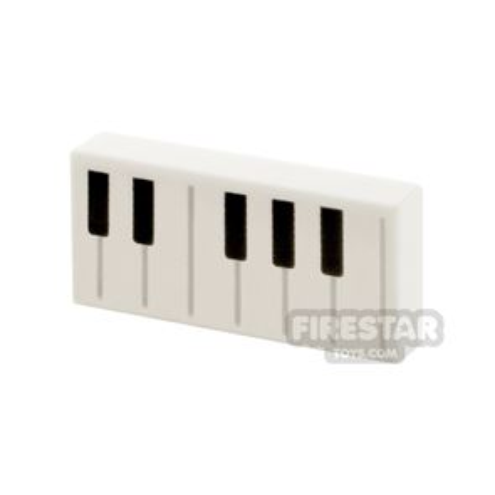 Printed Tile 1x2 Piano Keys