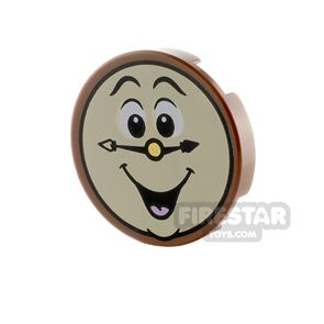 Printed Round Tile 2x2 Laughing Clock Face
