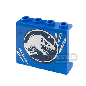 Printed Panel 1 x 4 x 3 with Side Supports Jurassic World Logo