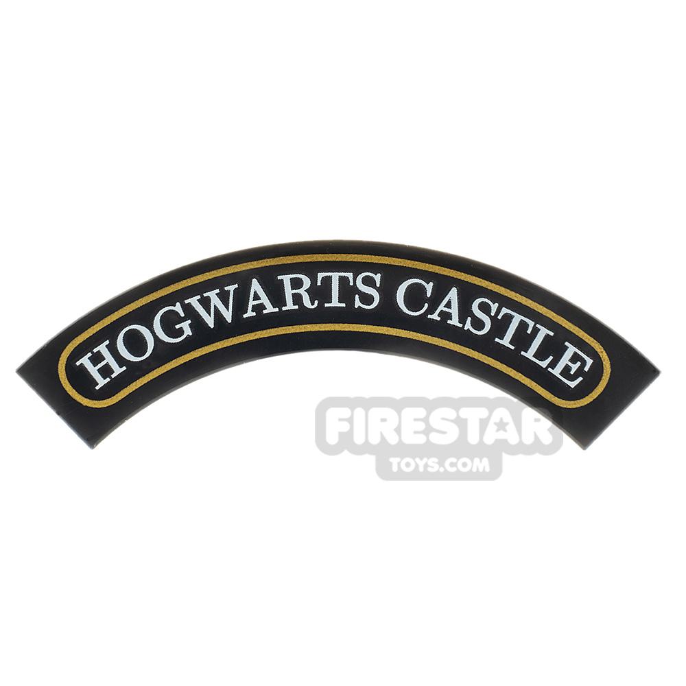 Round Tile 4x4 Curved Hogwarts Castle