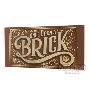 Printed Plate 8x16 Once Upon a Brick