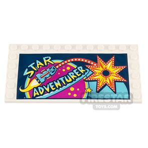 Printed Plate with Studs 6x12 Star Adventurer Sign