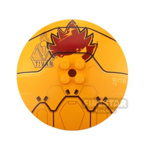 Printed Inverted Dish 8x8 Golden Drone
