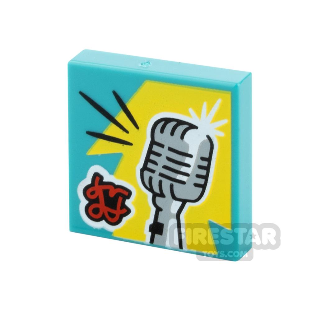 Printed Vidiyo Tile 2x2 Vintage Microphone