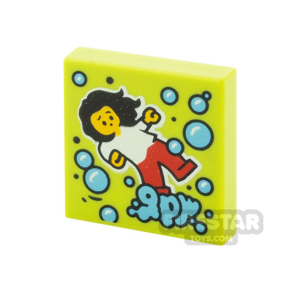Printed Vidiyo Tile 2x2 Dancing Girl and Bubbles