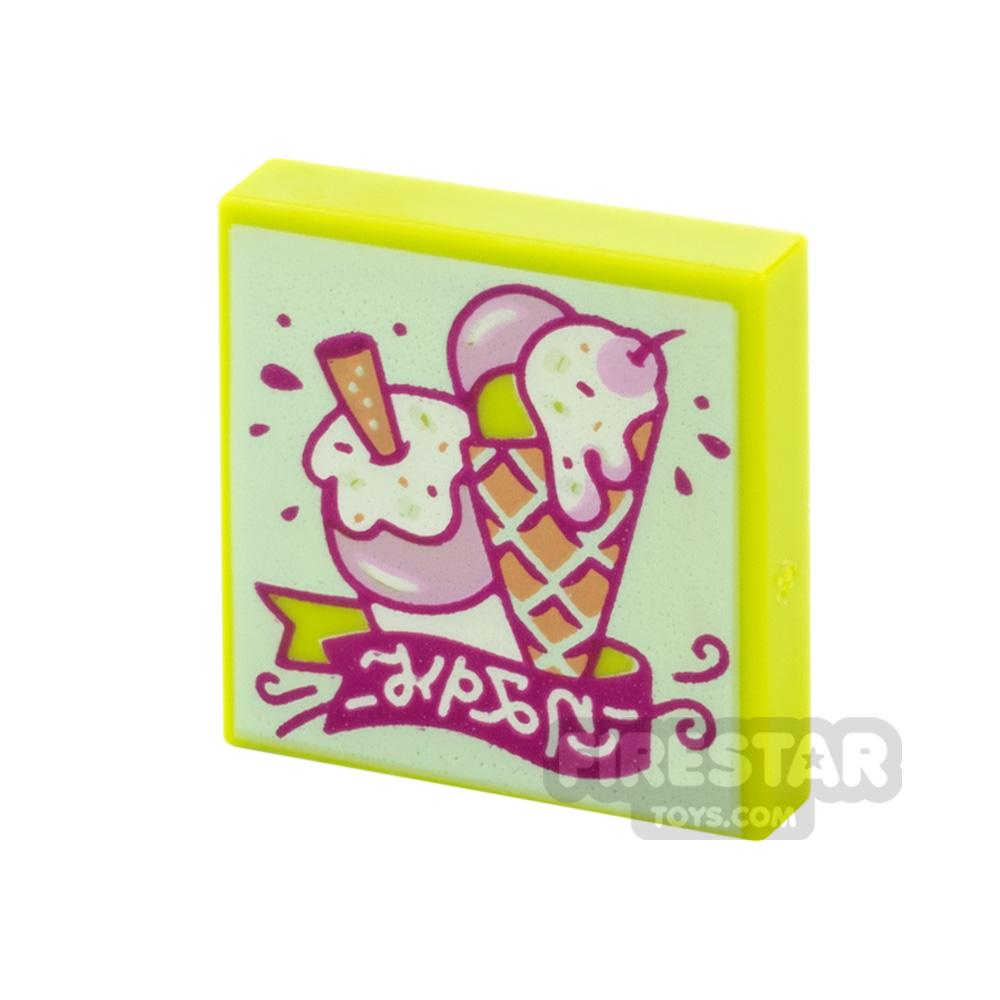 Printed Vidiyo Tile 2x2 Ice Cream Treats