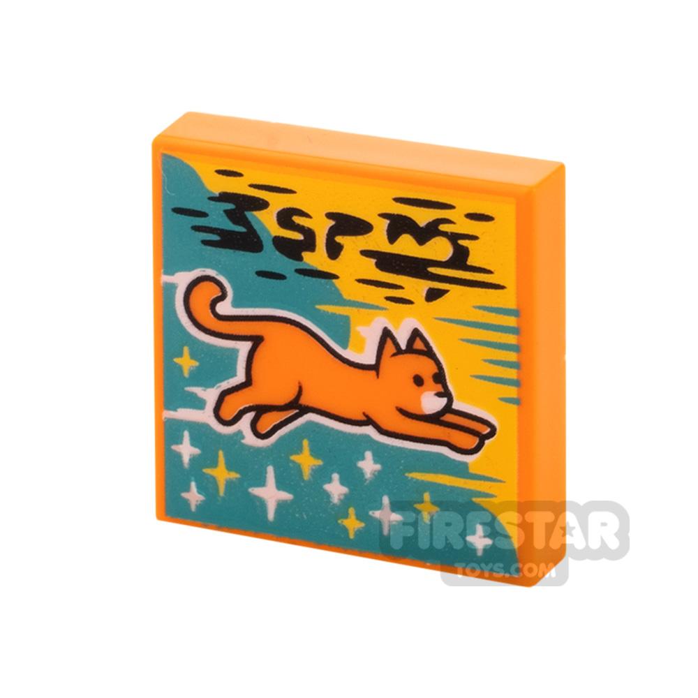 Printed Vidiyo Tile 2x2 Flying Cat