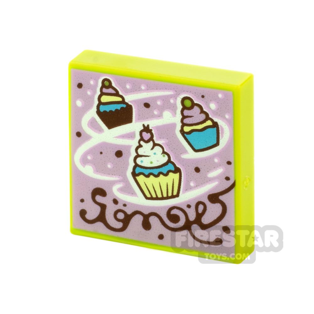Printed Vidiyo Tile 2x2 Cupcakes
