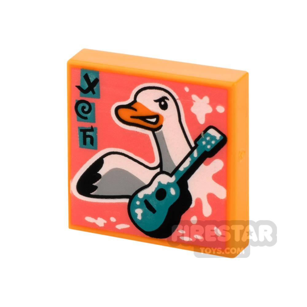 Printed Vidiyo Tile 2x2 Duck and Guitar