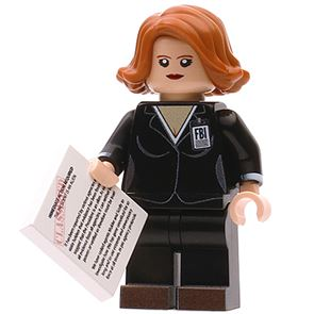 Custom Design Minifigure  X-Files FBI Agent Mully