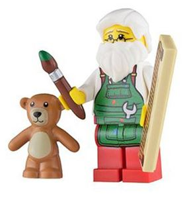 Custom Design Minifigure Workshop Santa
