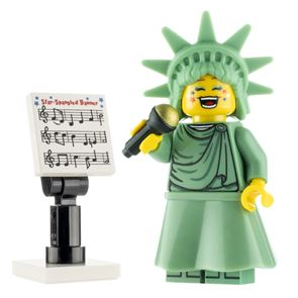 Custom Design Minifigure Miss Liberty