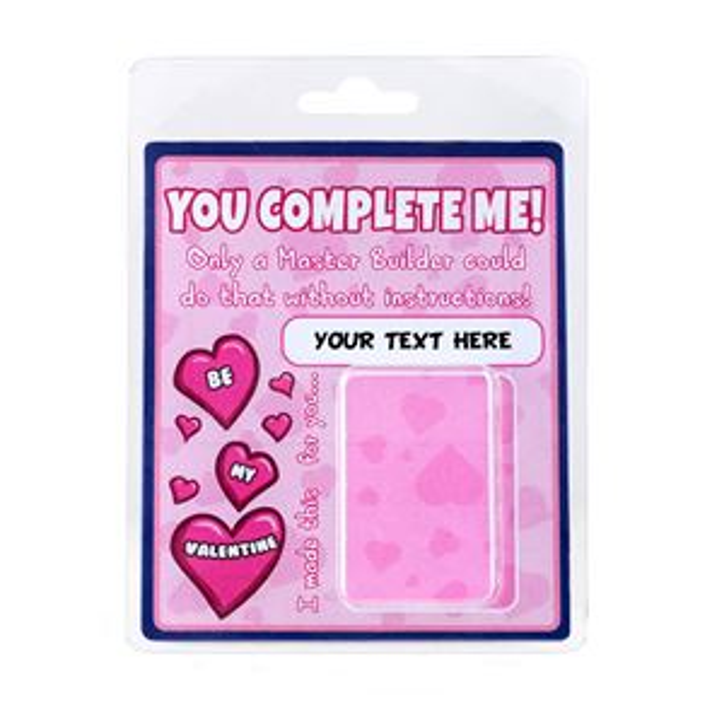 Personalised Minifigure Packaging Valentines Complete Me