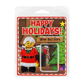 Personalised Minifigure Packaging Happy Holidays