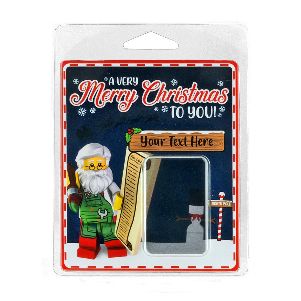 Personalised Minifigure Packaging Merry Christmas